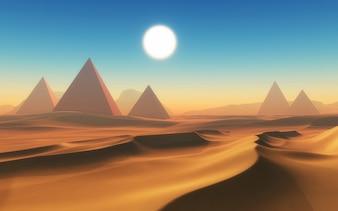 Conception du désert égyptien