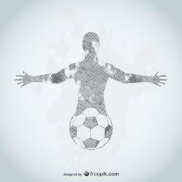 Conception grunge de joueur de football