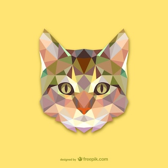 Conception triangle de chat