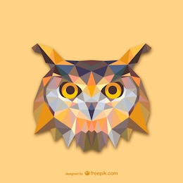 Conception triangle de hibou