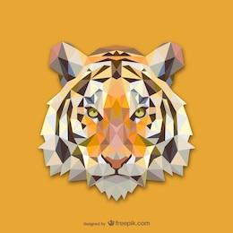 Conception triangle de tigre
