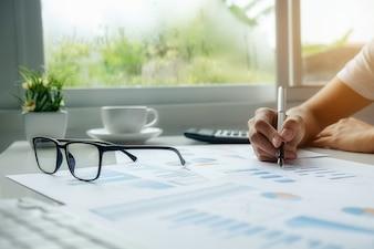 Concepts de statistiques de service plan graphique de style de vie