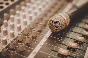Concert en direct la production de divertissement micro
