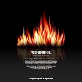 Contexte avec des flammes de feu