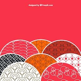 Contexte avec des motifs de style japonais