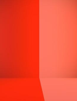 Contraste abstraite Contexte de la salle rouge et orange Conception de la disposition du Noël et du valentine.