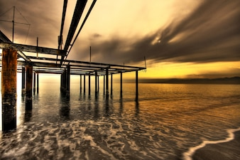 coucher de soleil sur la plage Mélancolie