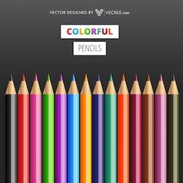Crayons colorés vives