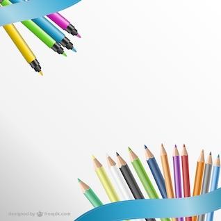 Crayons fond