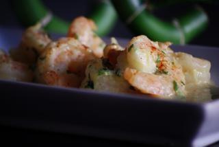crevettes et de curry, de rétrécissement