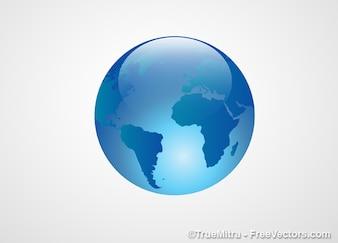 Cristal sphère terre