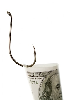 Crochet avec cent billets en dollars
