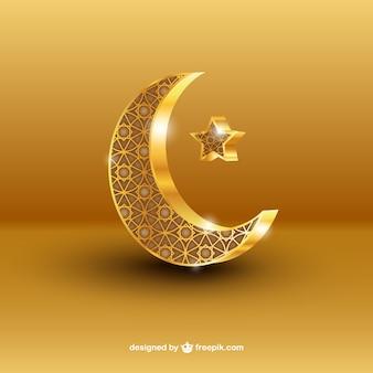 Croissant de lune de Ramadan