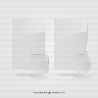 Cristal cadres template vecteur