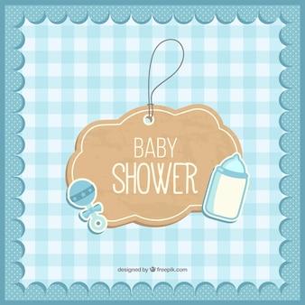 Bébé mignon carte de douche