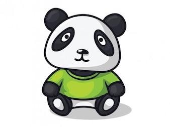 Panda mignon personnage illustration