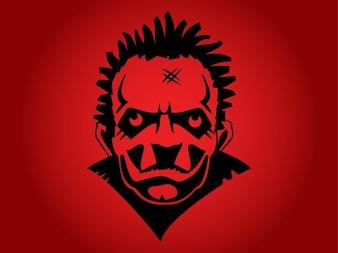 Dangerous psycho portrait homme face