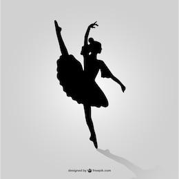 Danseur de ballet silhouette vecteur art