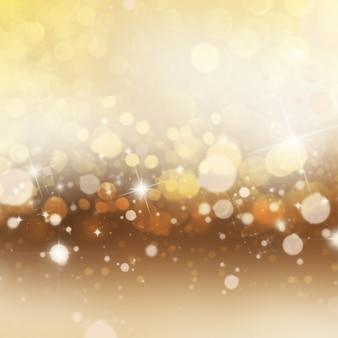 Décoratif Noël fond avec des lumières bokeh et étoiles