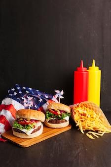 Décoration d'hamburger
