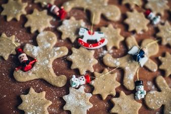 Décoration de Noël Biscuits au gingembre