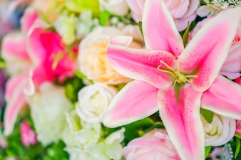 Décoration fleur artificielle