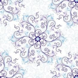 Défilement délicat floral avec des fleurs bleues