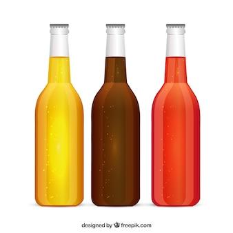 Des bouteilles de boissons gazeuses