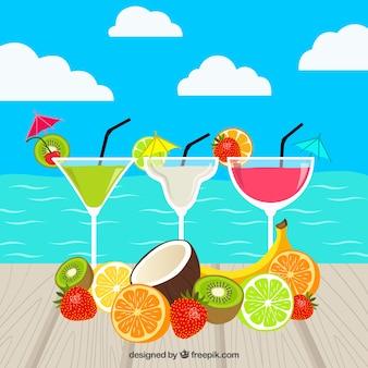 Des cocktails tropicaux