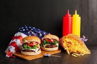 Des hamburgers délicieux