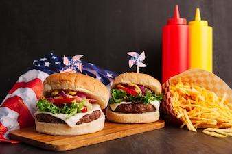 Des hamburgers savoureux