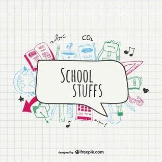 Dessin fournitures scolaires de vecteur