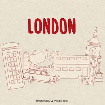 Dessinés à la main des éléments de Londres