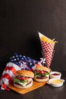 Deux hamburgers américains