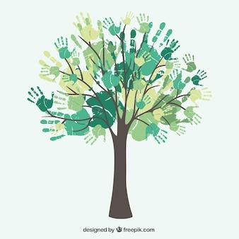 mains d'arbres de la diversité