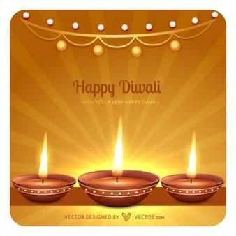 Diwali heureux cartes de vœux