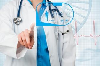 Docteur avec la réalité augmentée