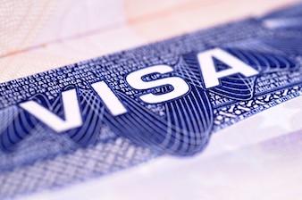 Document de visa américain