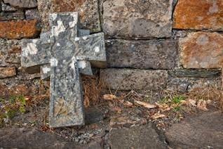 donegal cimetière croix en pierre hdr morts