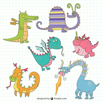 Dragons drôles dessins