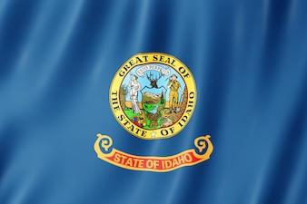 Drapeau de l'Idaho, États-Unis. Illustration 3D du drapeau de l'Idaho agitant.