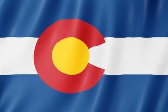 Drapeau du Colorado, États-Unis. Illustration 3D du drapeau du Colorado agitant.
