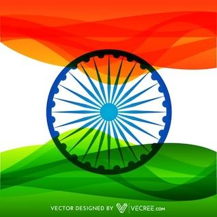 Drapeau indien coloré