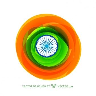 Drapeau indien en style créatif