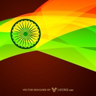 Drapeau indien fond conception