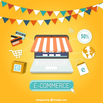 E-commerce fond