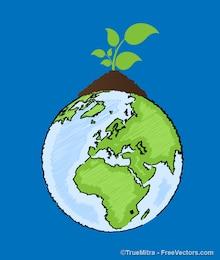 écologie terre agriculture milieux vecteur ensemble
