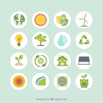collecte des icônes de l'écologie