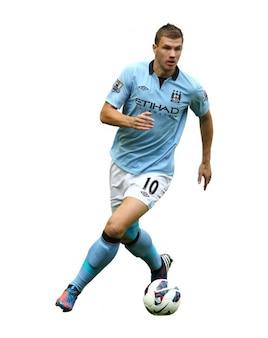 Edin Dzeko homme City Premier League