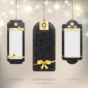 Élégantes étiquettes de cadeaux de Noël